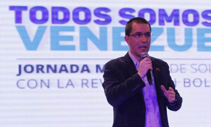 Destaca canciller venezolano solidaridad con su país ante amenazas