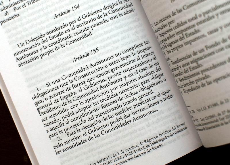 España aplicará artículo 155 en Cataluña