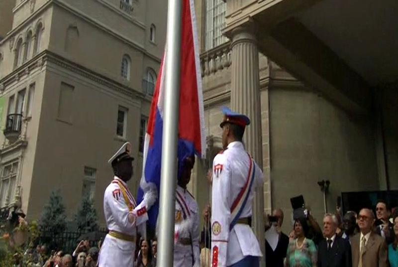 Ya ondea la bandera cuba en territorio estadounidense