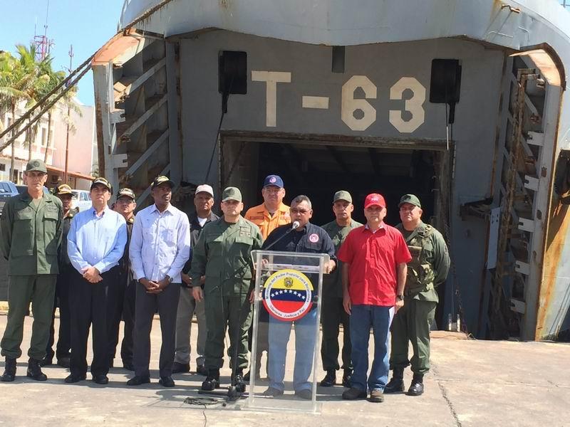 Env�a Venezuela buque con ayuda solidaria para Cuba y Hait�