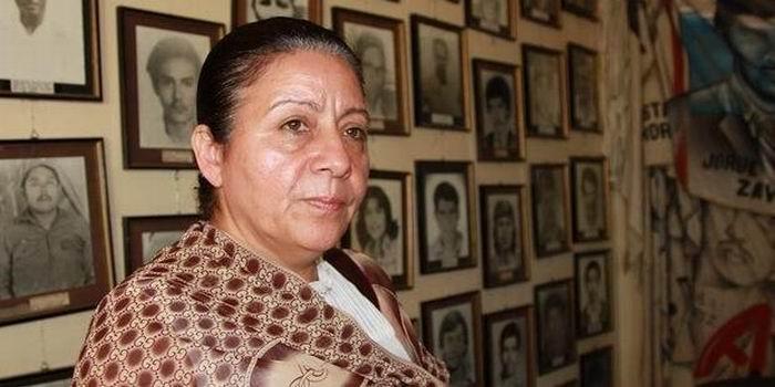 Bertha Oliva, fundadora del Comité de Familiares de Detenidos Desaparecidos en Honduras (Cofadeh)