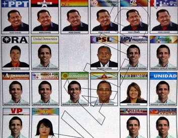 Boleta electoral en Venezuela