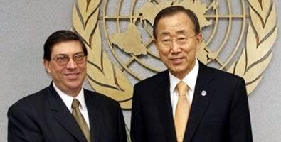 Recibi� Ban Ki-moon al canciller cubano