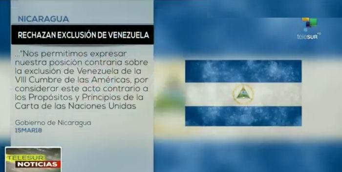 Rechazan exclusión de Venezuela en Cumbre de las Américas