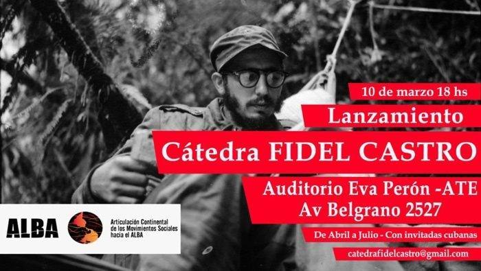 Constituirán en Argentina cátedras sobre legado del Comandante en Jefe, Fidel Castro