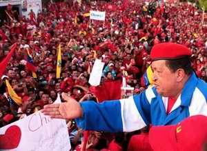 Presidente de Venezuela Hugo Chávez en campaña 2012