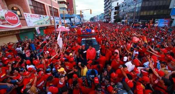 Apoyo a la campaña presidencial del Candidato de la Patria, Hugo Chávez en Venezuela