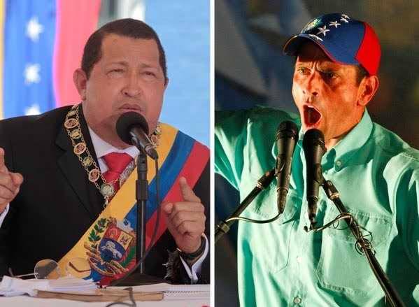 Hugo Chávez versus Capriles