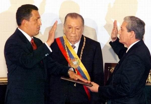 La primera toma de posesión de Chávez