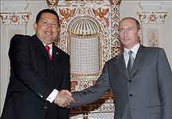 Hugo Chávez visitó Rusia en nueve ocasiones.