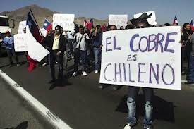 En Chile, por el cobre