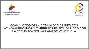 La Celac en apoyo a Venezuela (+Audio)