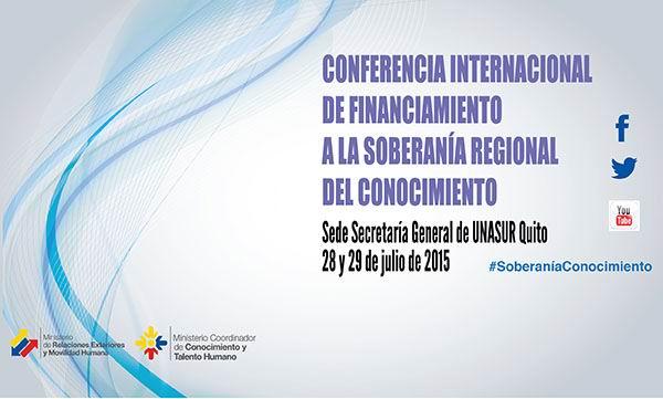 Acoge Ecuador evento sobre soberan�a regional del conocimiento