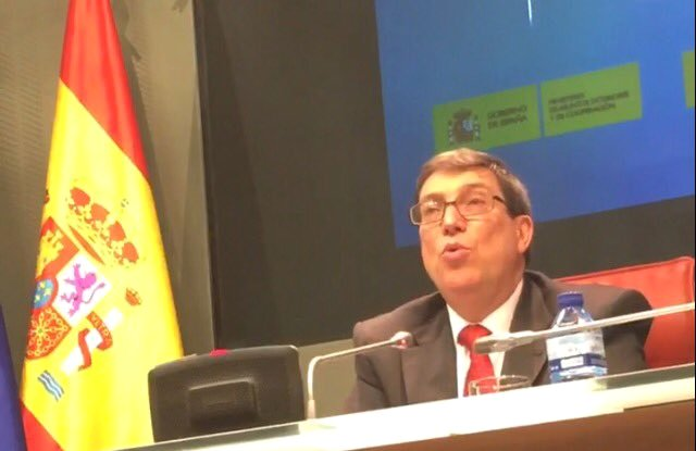 Cuban Foreign Minister thanks Spain for solidarity