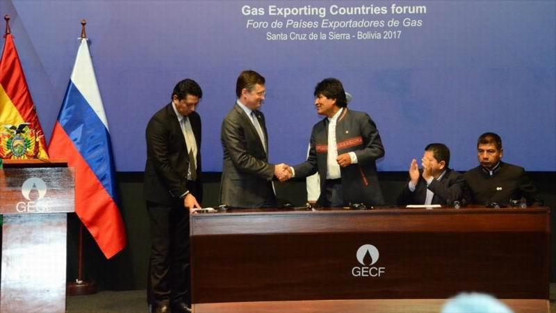 Bolivia rubrica tratados con Gazprom para explorar gas en dos nuevas áreas