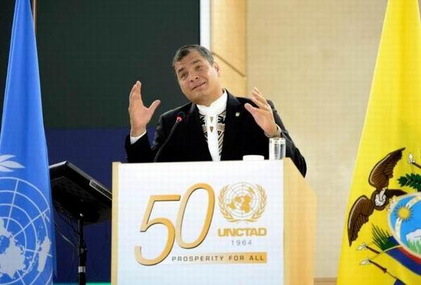 Afirma Correa: pobreza es el mayor atentado a los derechos humanos