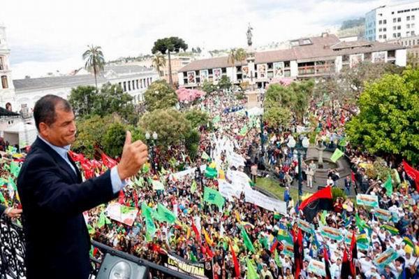 Correa advierte que en Ecuador gobierna el pueblo (+Audio y Video)