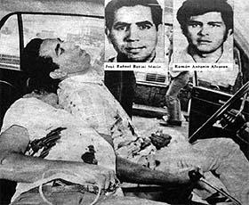 El 3 de junio de 1972 en el estado de Aragua, Venezuela, Luis Posada Carriles, bajo el seudónimo del Comisario Basilio, dirigió personalmente la masacre de La Victoria