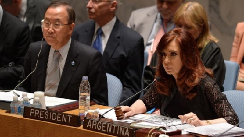 Acusa Cristina Fern�ndez a Mauricio Macri en Naciones Unidas de capitular ante fondos buitres