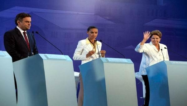 Midieron candidatos brasile�os ideas en tercer debate presidencial