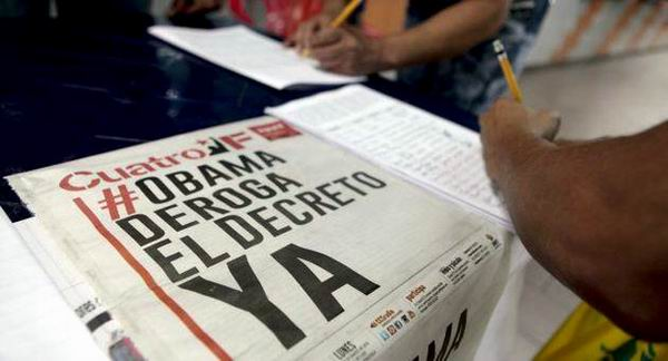 Contin�a movilizada Venezuela contra decreto imperial (+ Audio)