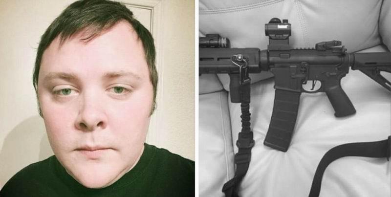En una de sus últimas fotos publicadas en Internet, Kelly  muestra un fusil de asalto Ruger AR
