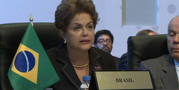 Dilma Rousseff se pronuncia contra el bloqueo de Estados Unidos a Cuba