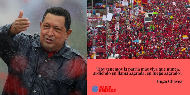 Chávez no se va, se queda en su bravo pueblo (+Audio)