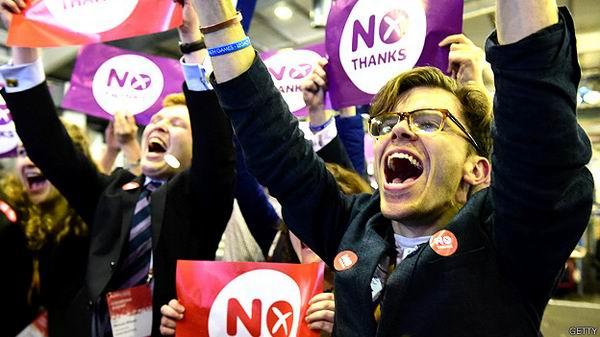 Mayor�a de escoceses decidieron no separarse del Reino Unido