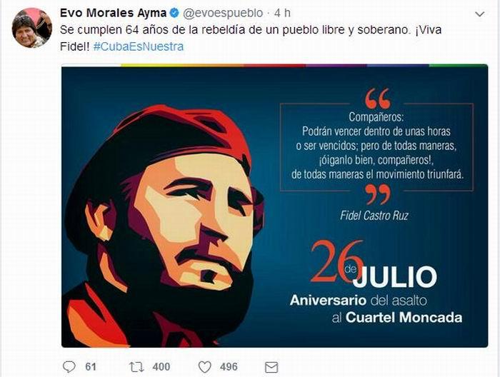Twitter del Jefe de Estado boliviano, Evo Morales