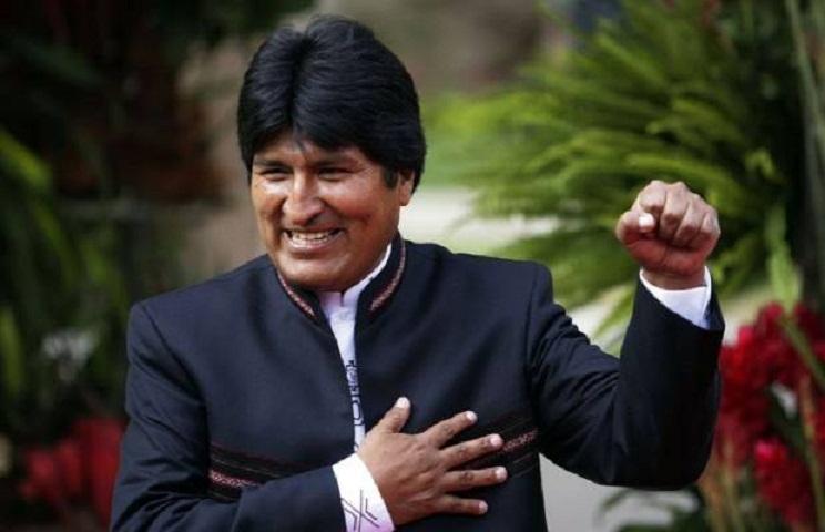 Felicita Evo Morales a Fidel Castro horas antes de aterrizar en Cuba