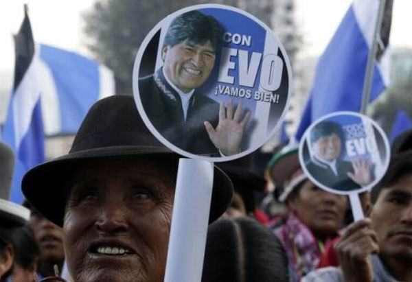 Gan� Evo su tercer mandato presidencial