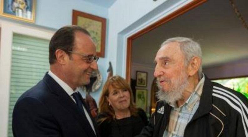 Lamenta Presidente de Francia muerte de Fidel