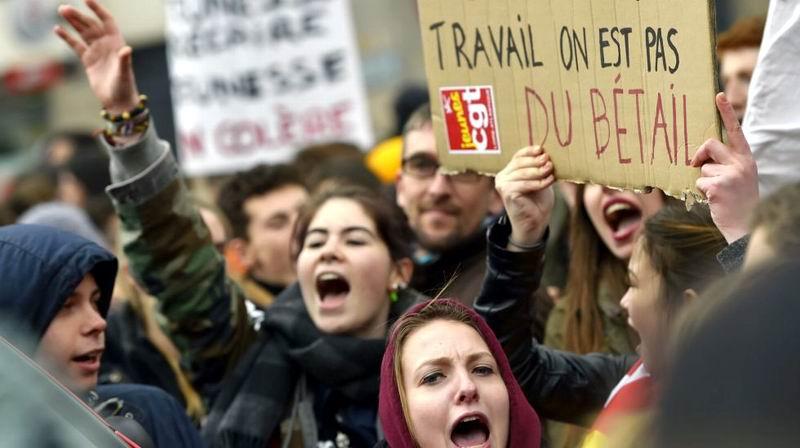 Vive Francia una nueva jornada de manifestaciones en contra la reforma laboral
