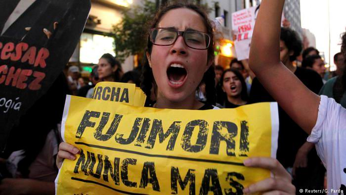 Demonstrations Continue for Granting recent Reprieve to Dictator Fujimori