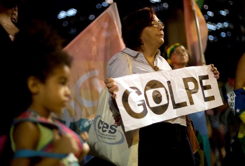 Entre insultos sesi�n del Senado en Brasil