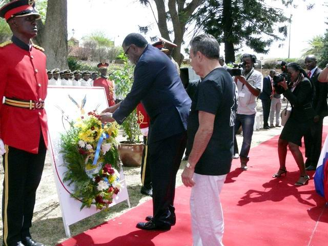 Presidente de Namibia preside homenaje a Fidel en Windhoek