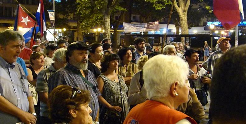Homenaje a Fidel en Uruguay