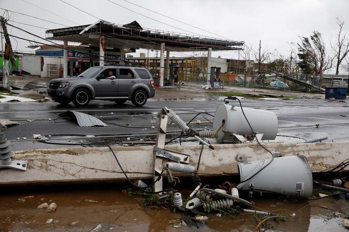 Devastación en Puerto Rico. (REUTERS/Carlos Garcia Rawlins)
