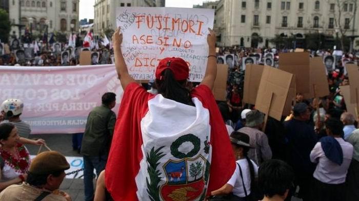 Protestas contra el indulto al expresidente Alberto Fujimori