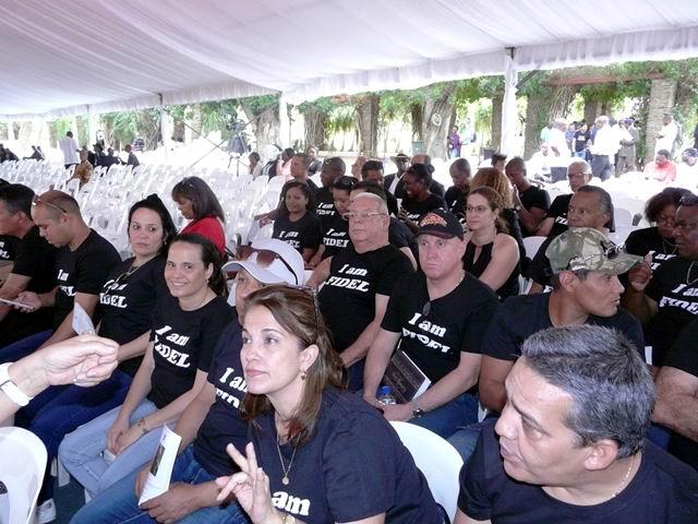 La comunidad cubana y los graduados namibios en Cuba, demostraron su firme convicción de respaldo a la Revolución cubana