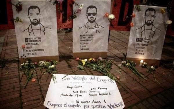 La muerte de líderes sociales en Colombia