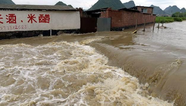 Afectadas en China unas 750 mil personas por las intensas lluvias