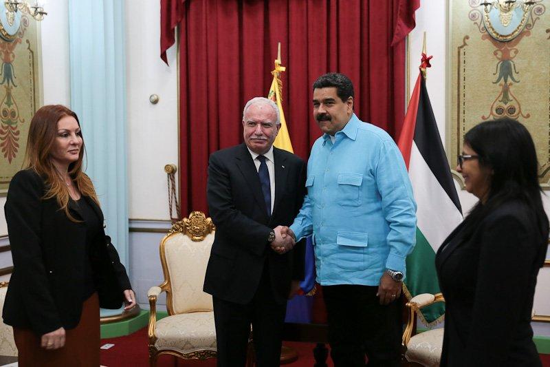 Recibe Nicolás Maduro al canciller palestino y ratifica apoyo a la causa de su país