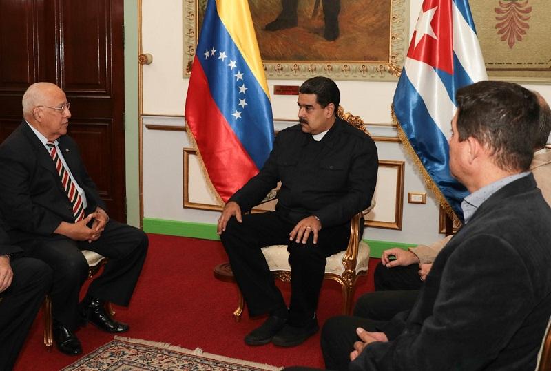 Sostiene presidente de Venezuela conversaciones con autoridades cubanas