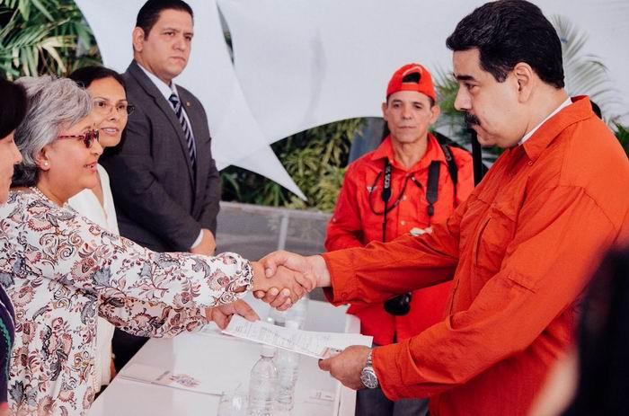 Nicolás Maduro, inscripción de Candidatura Presidencial ante el CNE