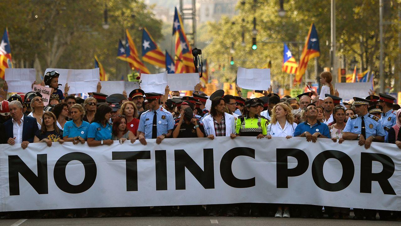 Histórica marcha contra el terrorismo en Barcelona