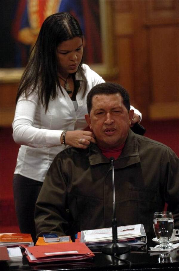 María Gabriela junto a su querido padre, Hugo Chávez.
