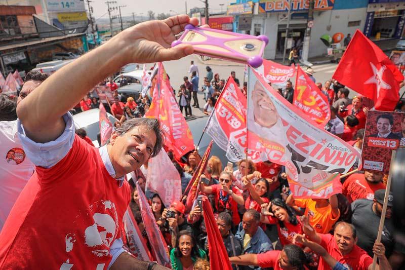 Arranca fuerte Haddad su carrera por la presidencia de Brasil