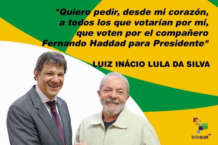 Fernando Haddad candidato del PT en las elecciones de Brasil